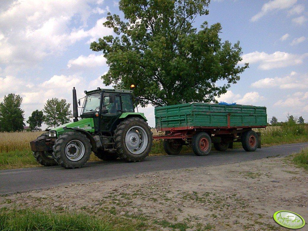Deutz Fahr DX 4.57+ przyczepa 12 ton.