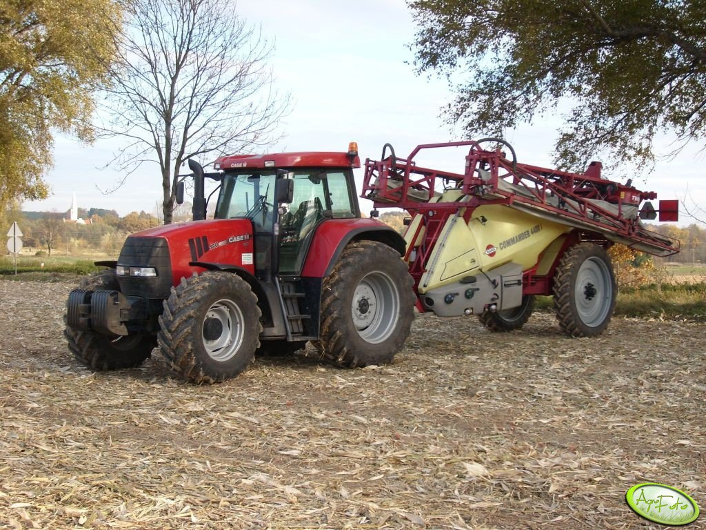 Case CVX 140 + Hardi commander 4400