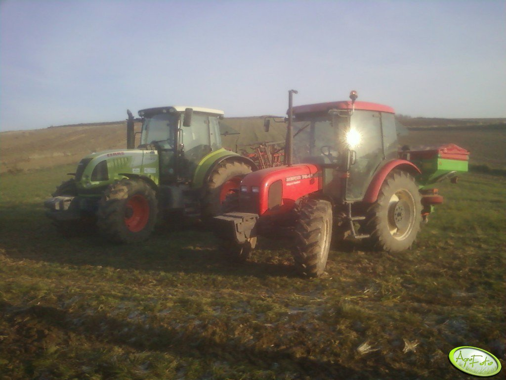 Claas Arion 620C + Zetor 7341