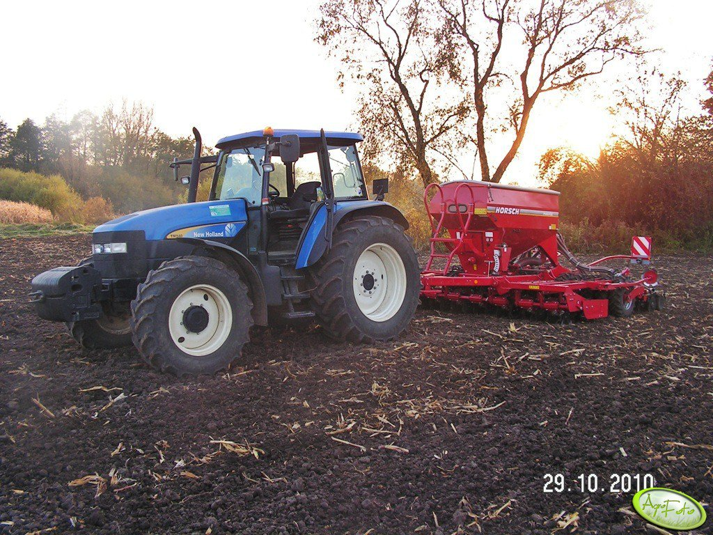 New Holland TM140 horsch pronto 4 dc