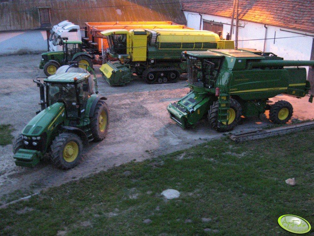 JD 7730, 6930 + RAU, W540 i Ploeger