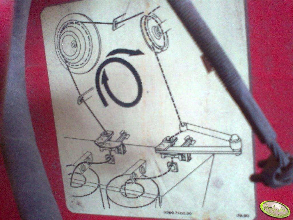Schemat zakładania sznurka Welger Rp12S