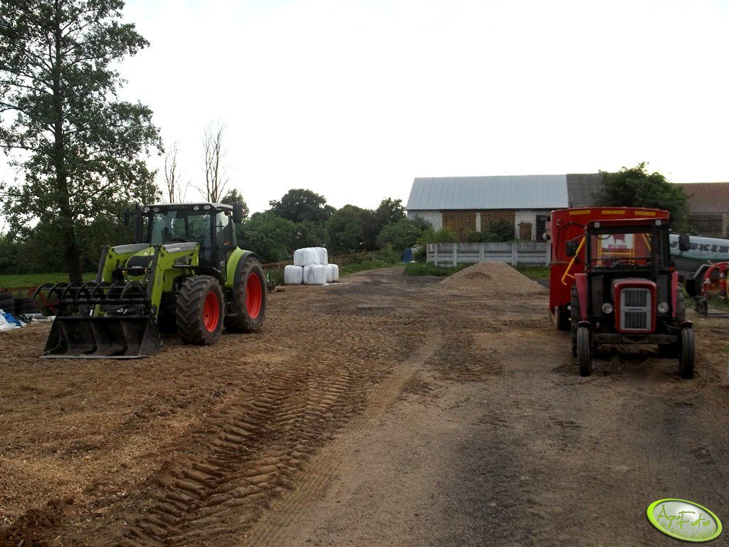 Claas Arion 430CIS + Quicke q45 &  Ursus c360 + MetalFach T-659