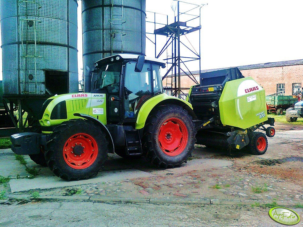 Claas Arion 510 & Variant 370