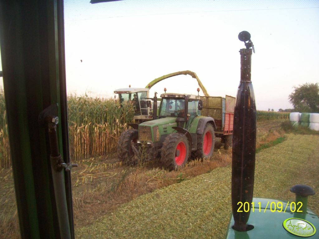 Fendt Favorit 824 i Claas Jaguar 840