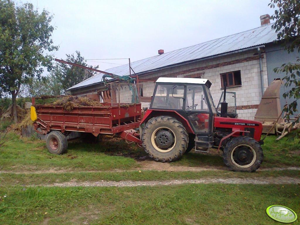 Zetor 7245 + rozrzutnik ruski