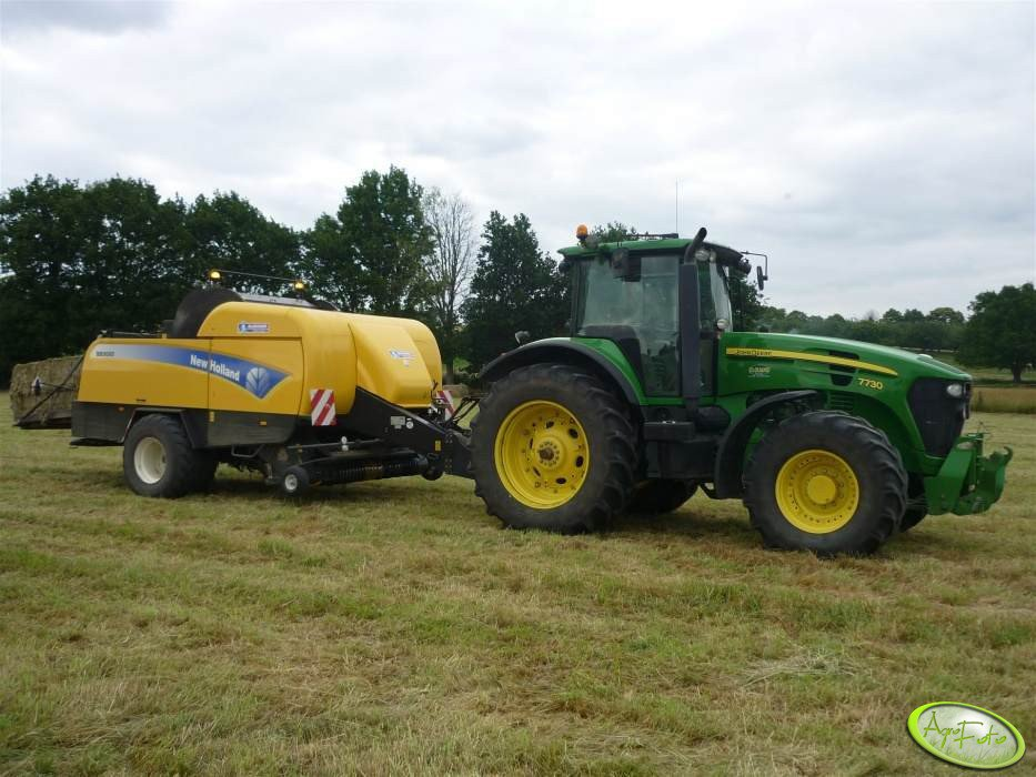 John Deere 7730 + New Holland BB9080