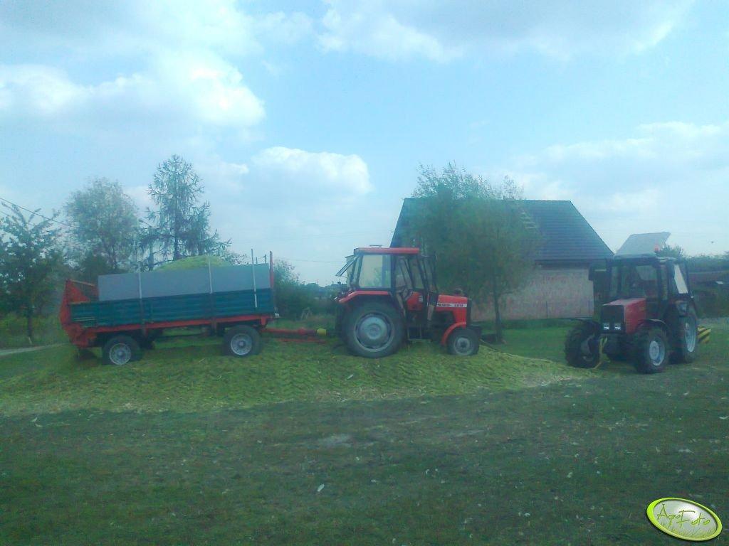 Ursus 2812 + rozrzutnik & Belarus 820