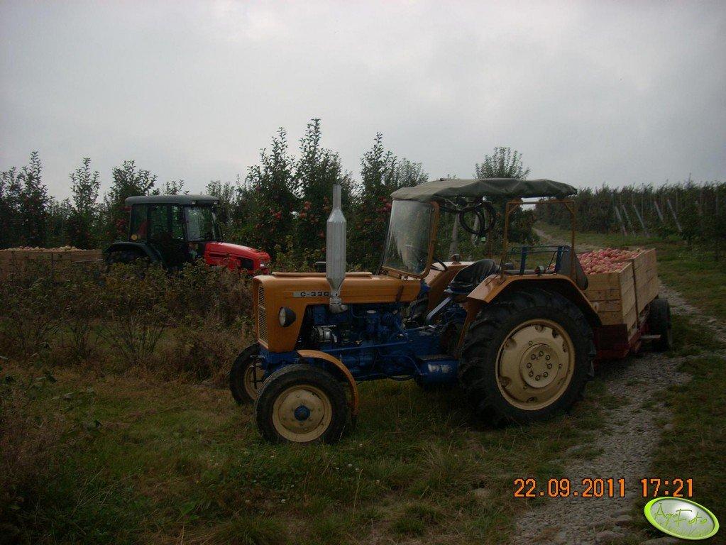 Ursus C-330 + przyczepa sadownicza