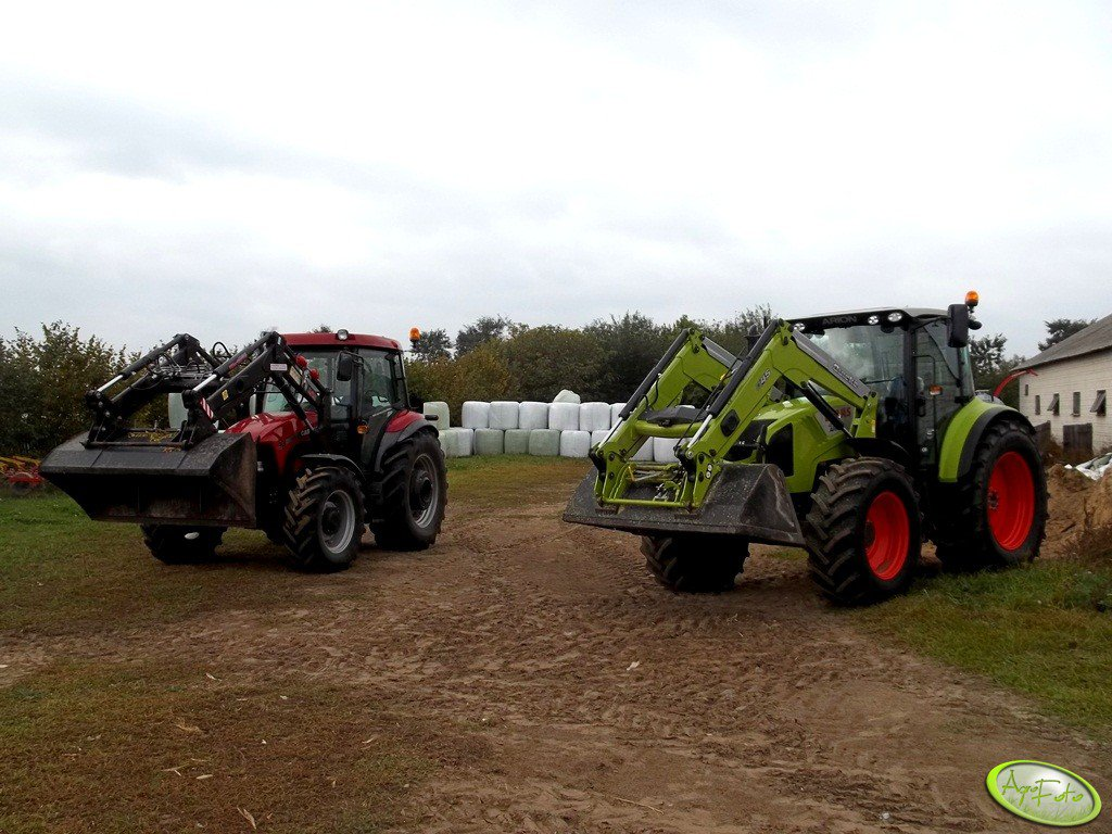 Claas Arion 430 CIS + Quicke Q45 & Case JX90+TUR6