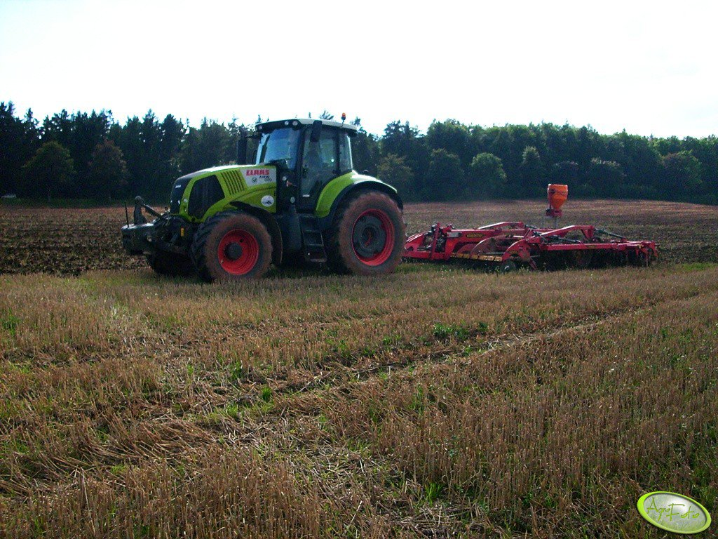 Claas Axion 850 + Väderstad TopDown 400