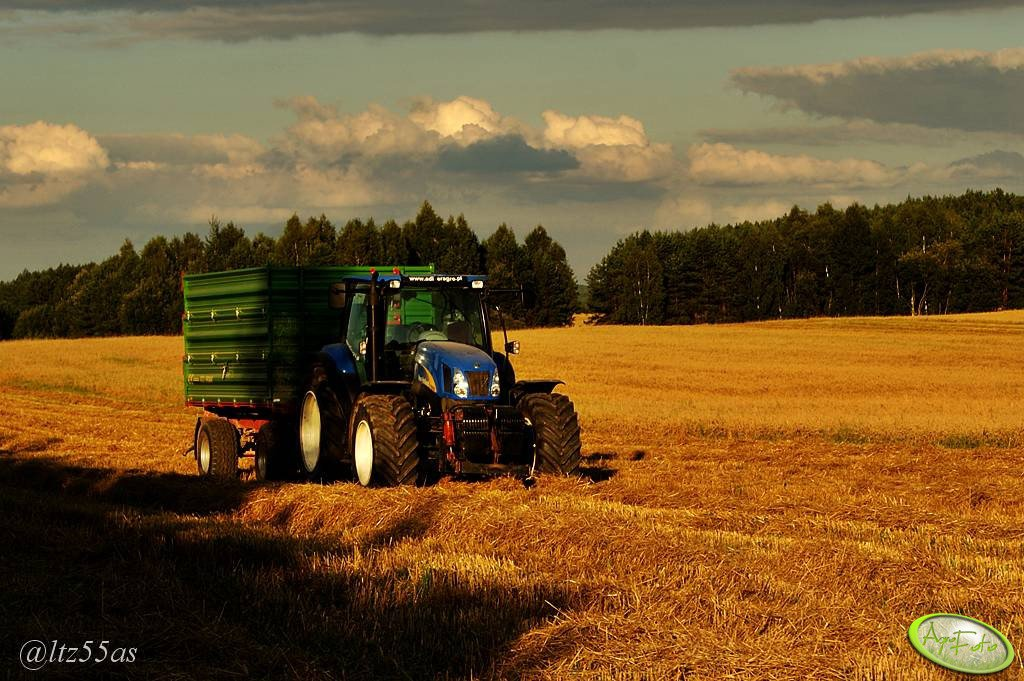 New Holland T6050 + Pronar T672/1
