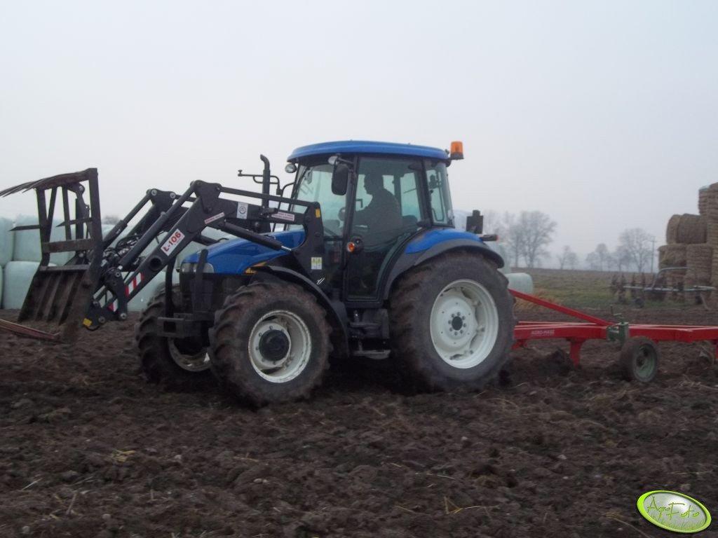 New Holland TD5030 & Agromasz Ł-106 i Agromasz 4*40