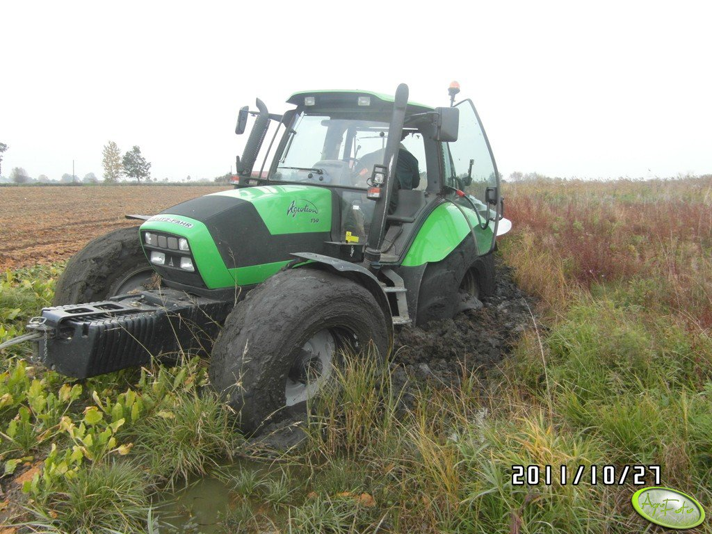 Deutz Fahr Agrotron 150 + Kverneland LM 85