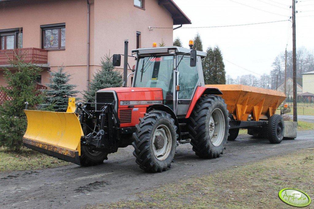 Massey Ferguson 3125+pług śnieżny+RCW5