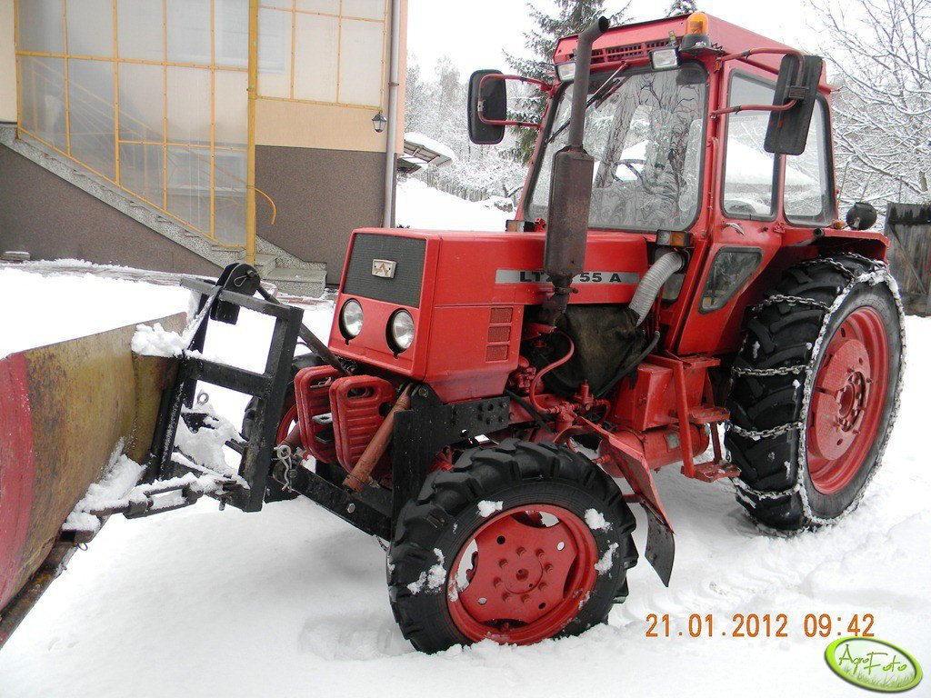 LTZ 55a + pług śnieżny