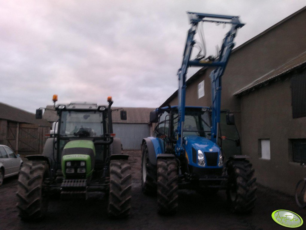 Deutz Fahr Agrofarm 420 GS + New Holland T5060