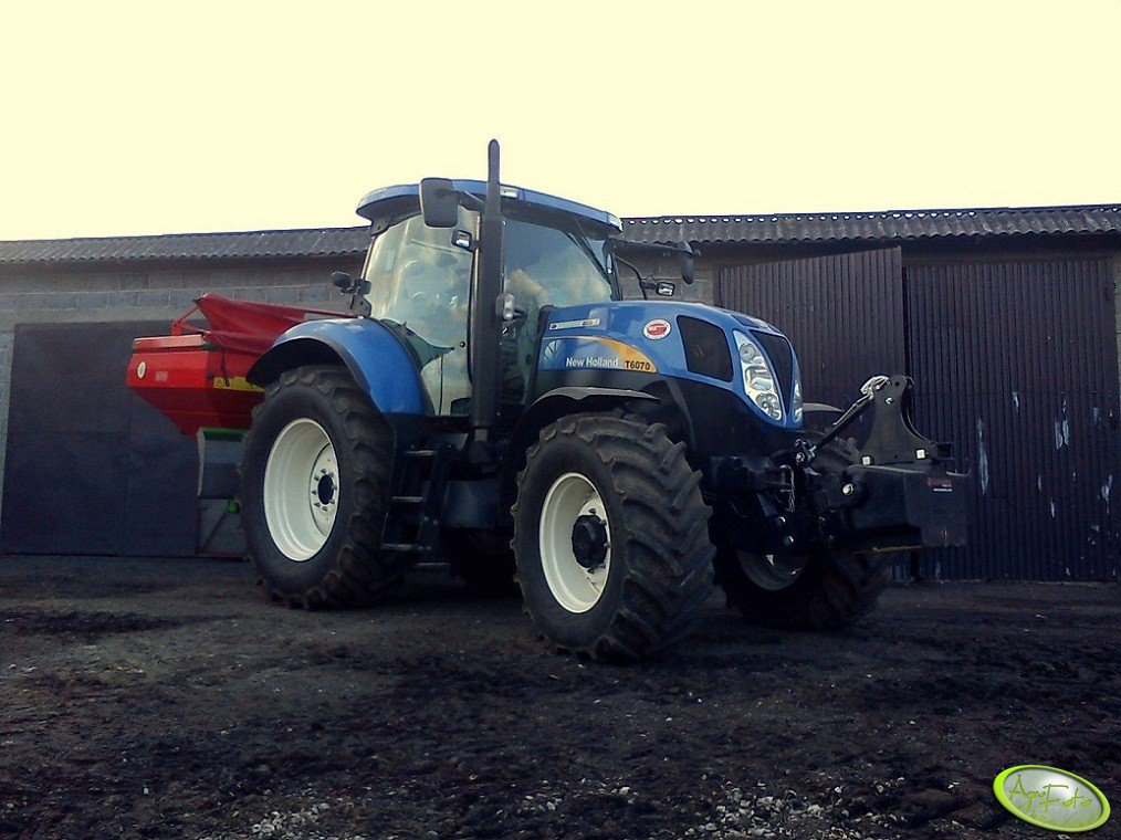 New Holland T6070 PC + Unia mx 3000