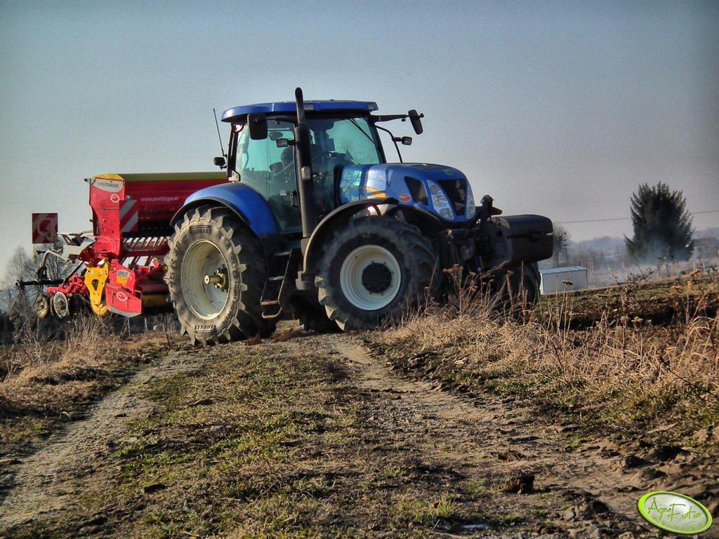 New Holland T7030 i Pottinger Lion& Vitasem