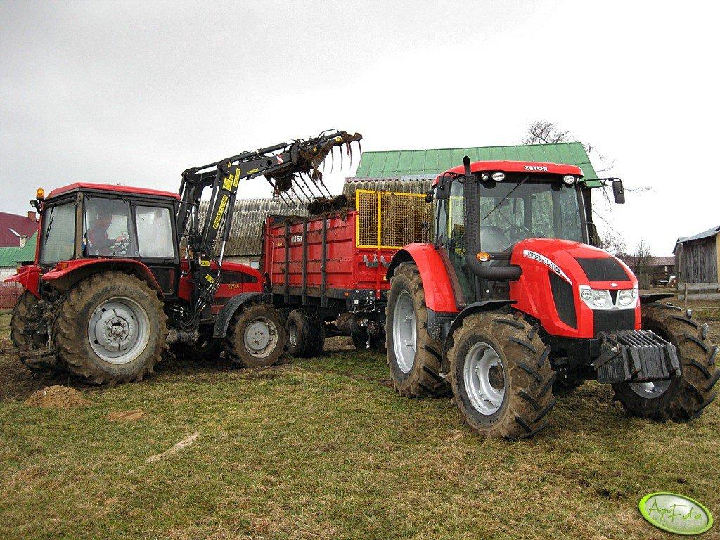 Zetor Forterra 135 + Metal Fach & Mtz Belarus 952.3