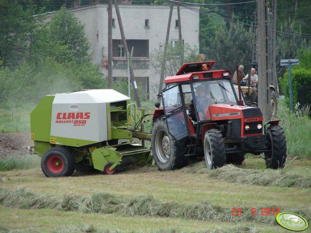 Ursus 1224 + Claas Rollant 250rc