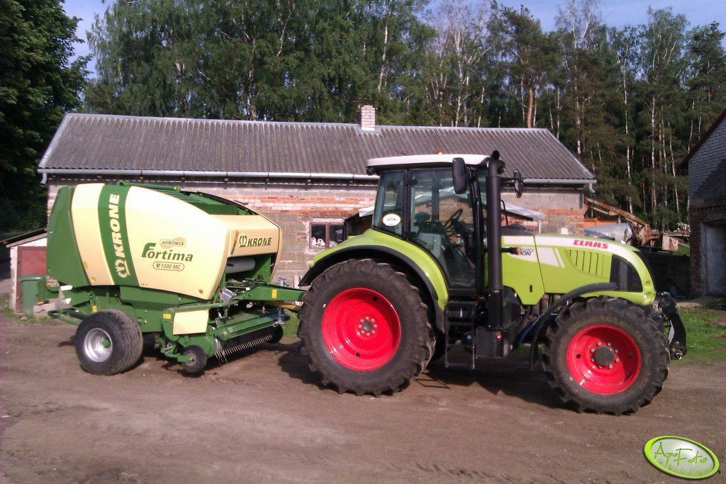 Claas Arion 620 cis + Krone Fortima 1500 mc
