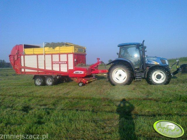 New Holland T6020 Plus + Pottinger Faro 4000