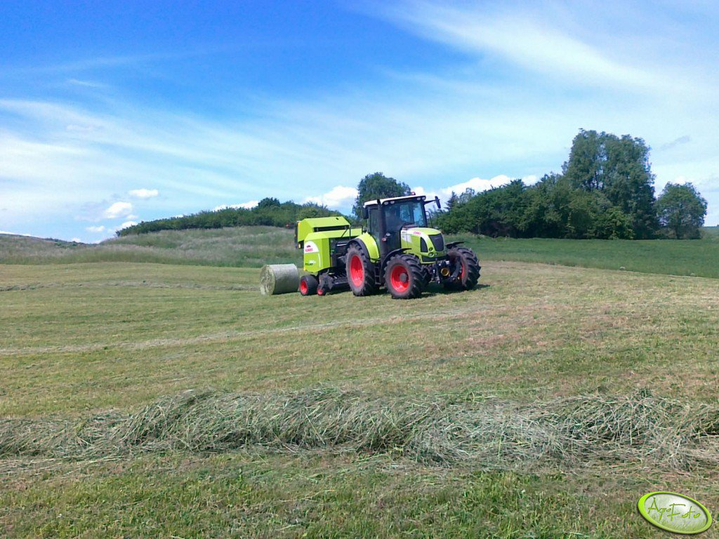 Claas Arion 630 C.I.S & Rollant 350RC
