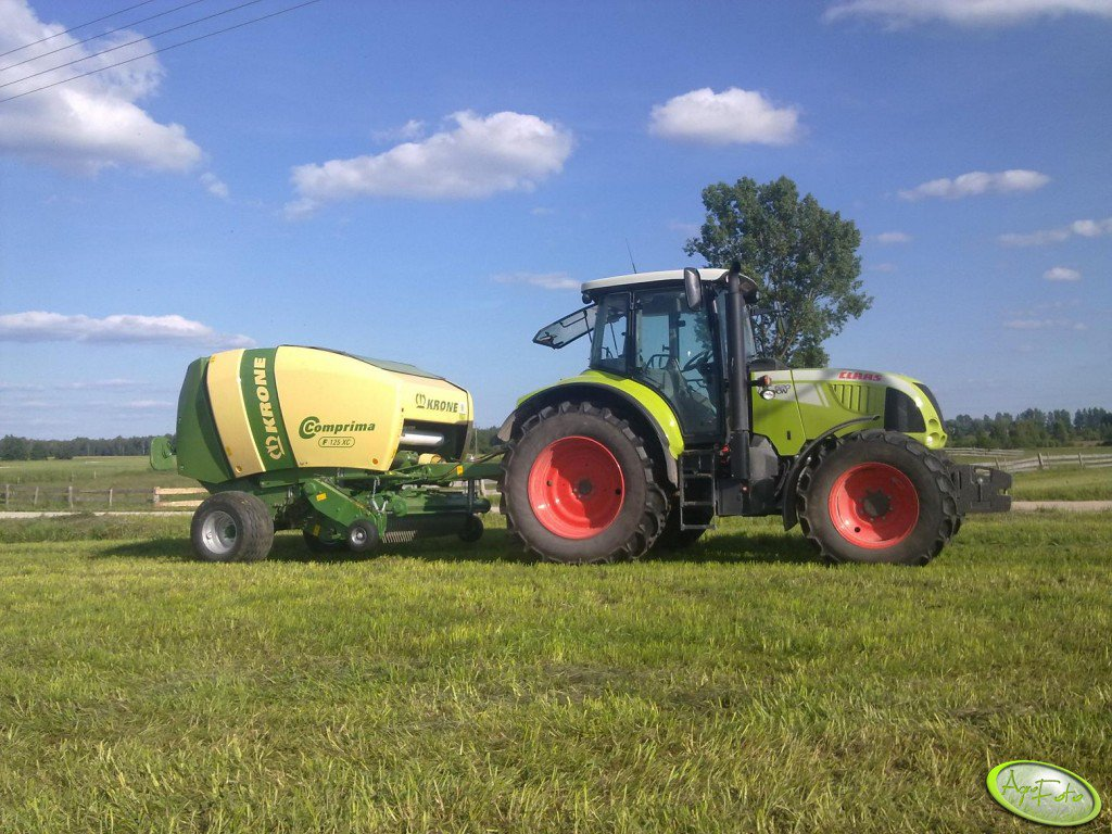 Claas Arion 620 & Krone Comprima F125 XC