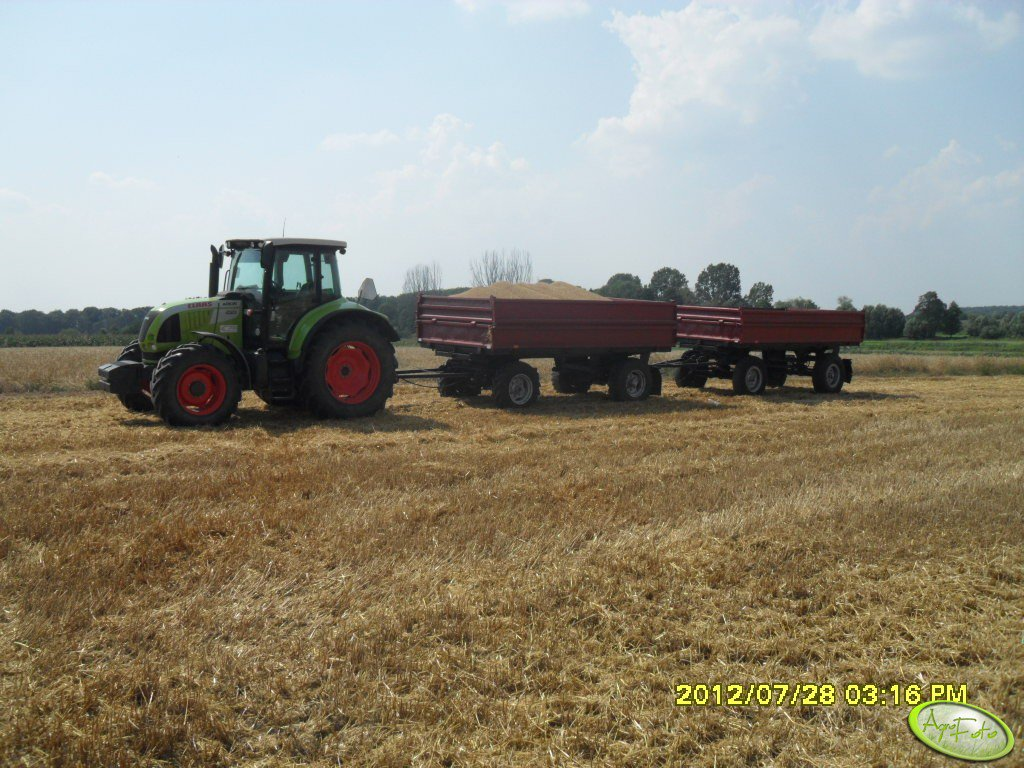 Claas Arion 520 + 2x HL 6011