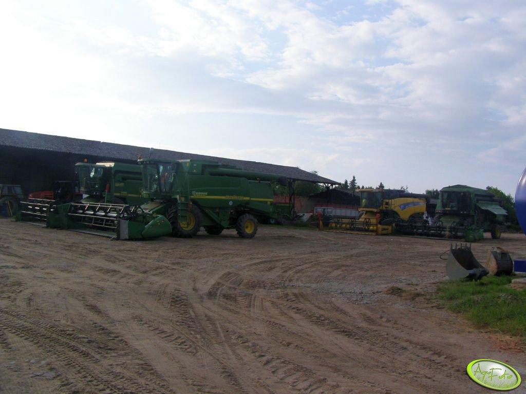 John Deere: 9680 WTS, 2064 x2 i New Holland CX 8060