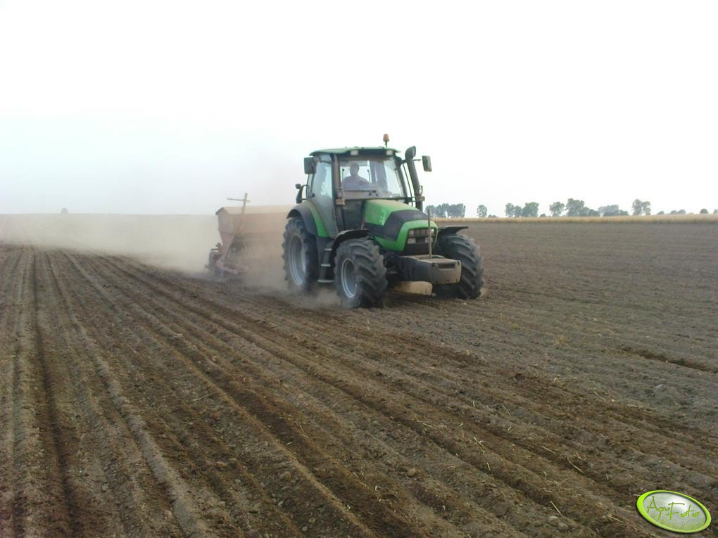 Deutz Fahr Agrotron 130 i Vaderstad Rapid C