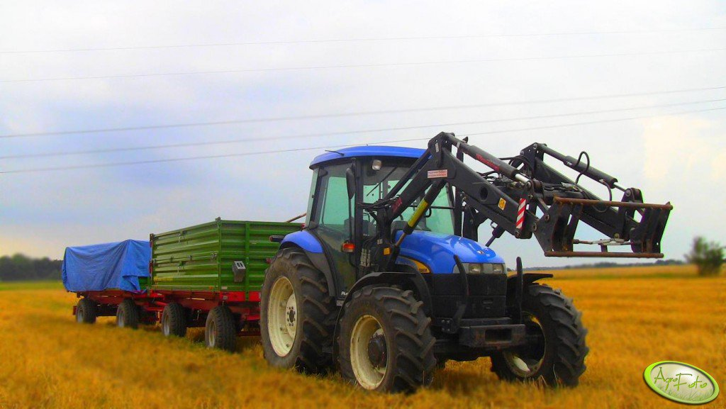 New Holland TD80D + Pronar T653/3 + Pronar 672/2