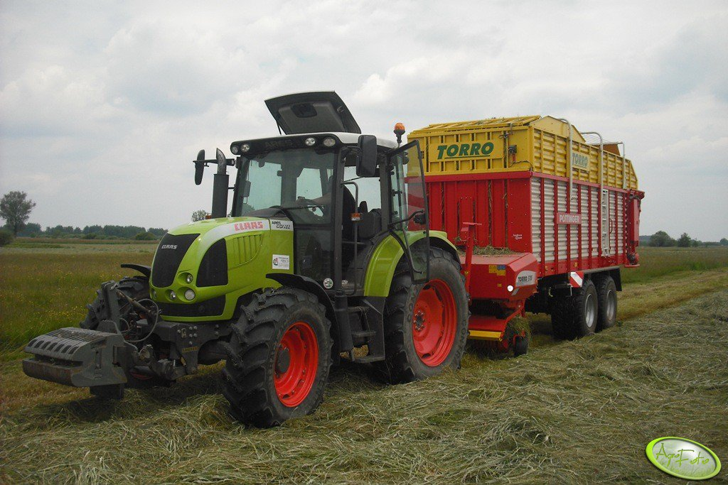 Claas Ares 567 ATX + Pottinger Torro 5700