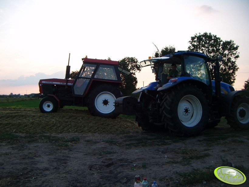 Ursus C-385  i New Holland T6030 delta