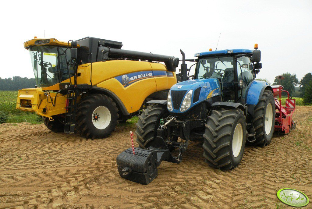 NH T7030 AC & Horsch Express & CX5080