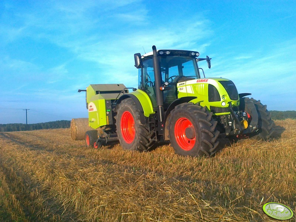 Claas Arion 630 C.I.S & Rollant 350 RC
