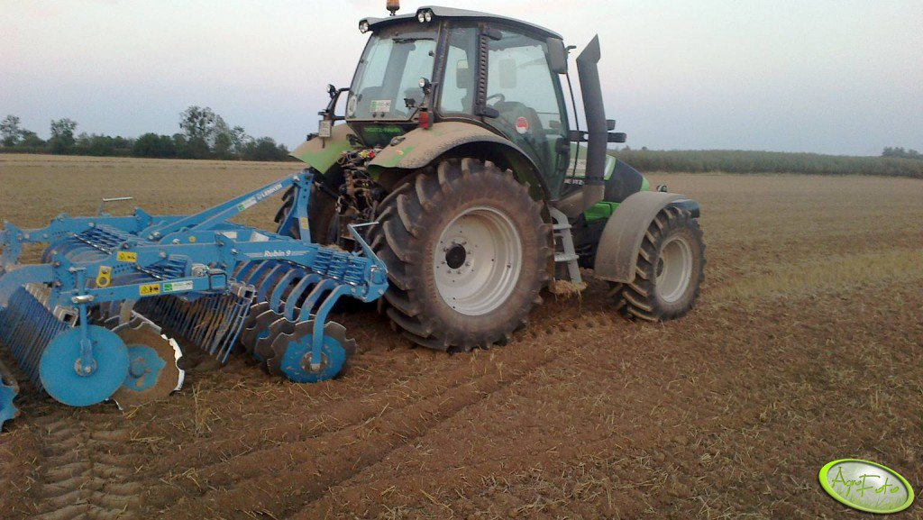 Deutz Fahr  Agrotron TTV 410 + Lemken Rubin 9