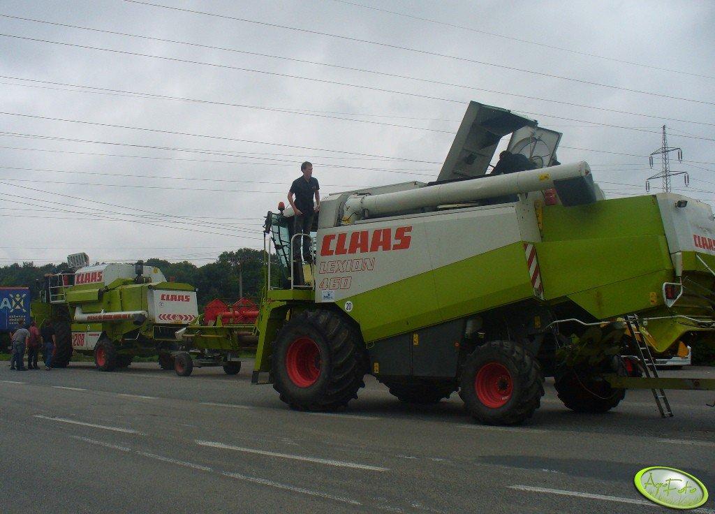 Claas Lexion 460 & Claas Mega 208