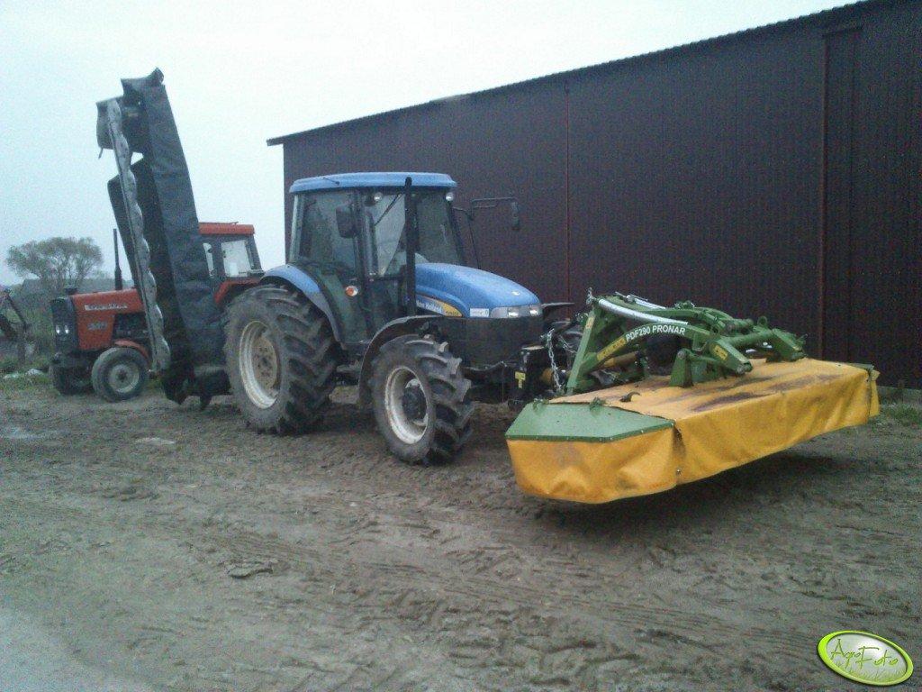 New Holland TD5050 + Deutz Fahr Sm.5.32 + Pronar PDF290