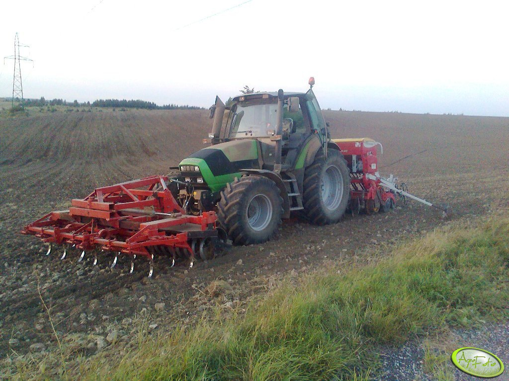 Deutz Fahr M610 + Pottinger + Agregat na Tuz