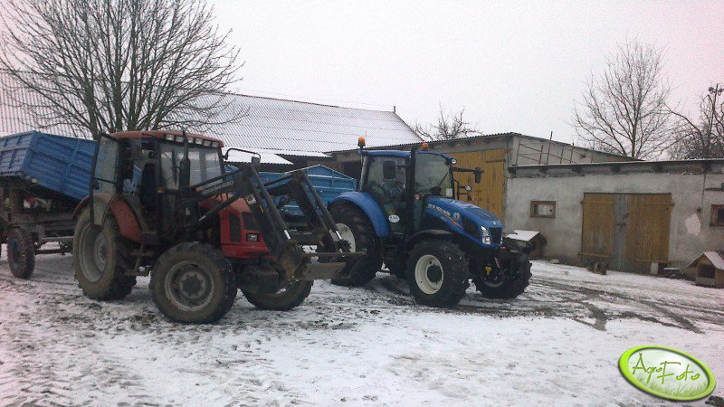 Farmer 8244 C2 i New Holland T5 105