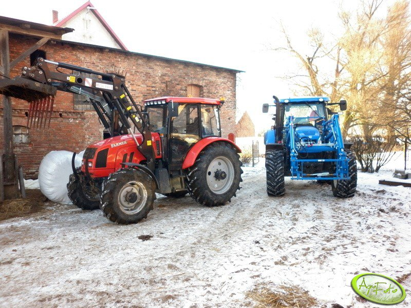Farmer 10244 C1 + New Holland T6 165