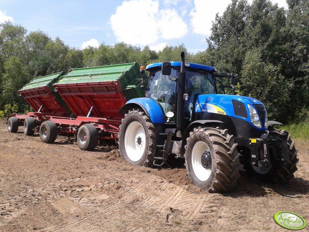 New Holland T6080 i 2x Pronar T672/1