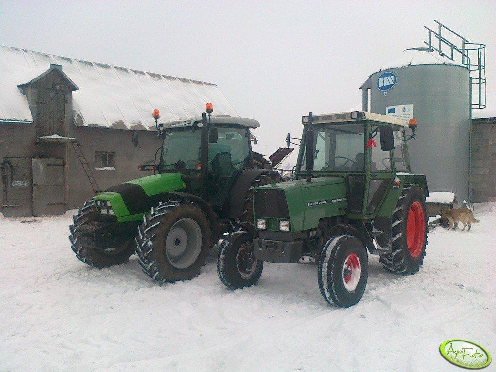 Deutz Fahr Agrofarm TTV 430 + Fendt 306 LS