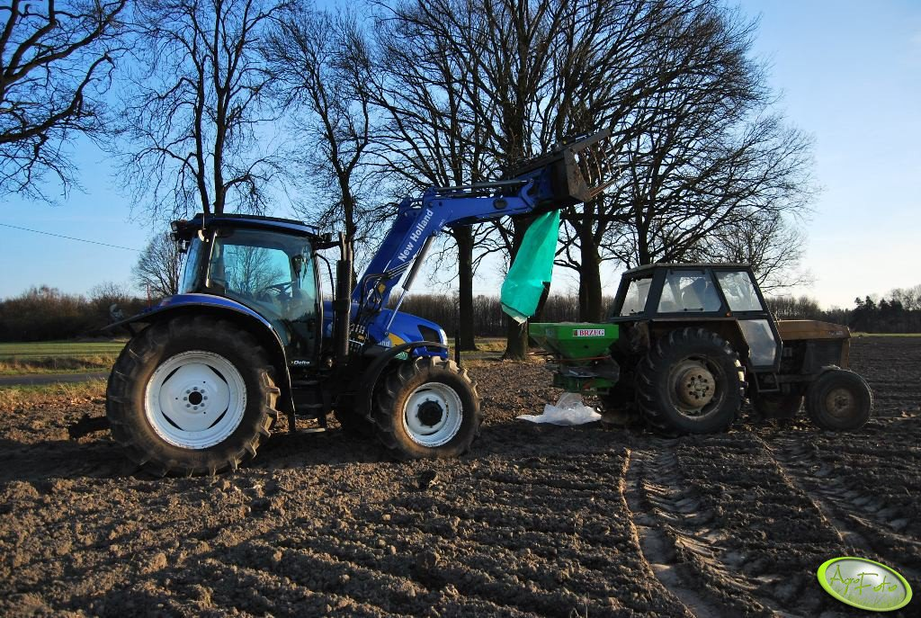 New Holland T6030 Delta & Ursus 912 + Unia Brzeg