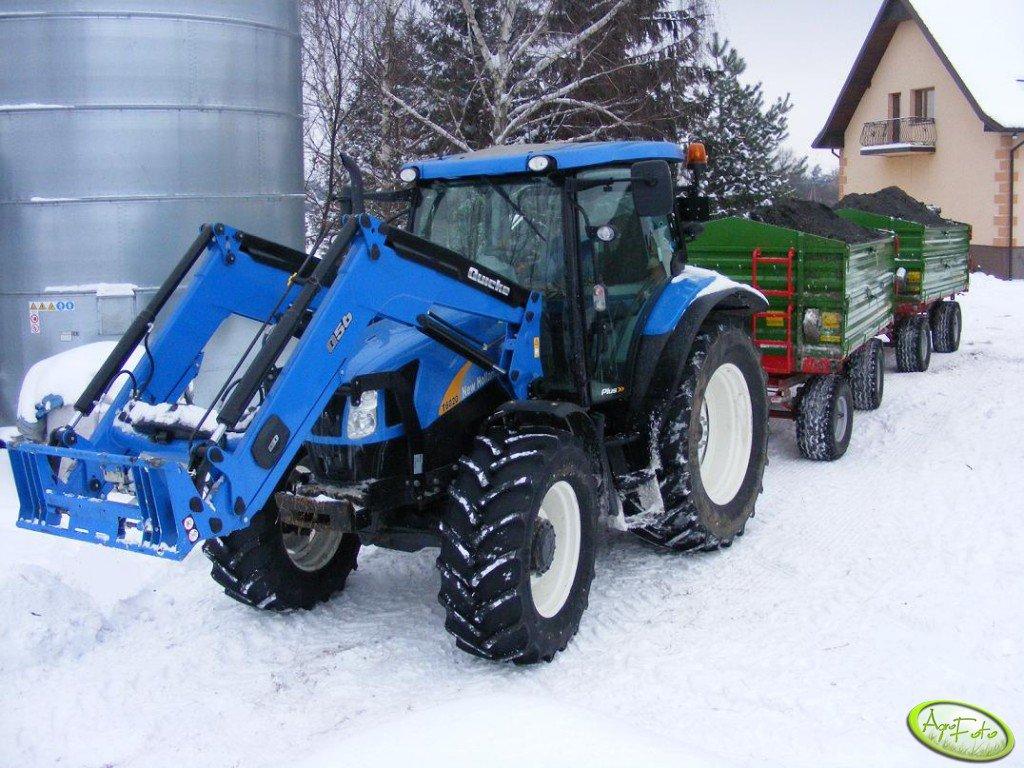 New Holland T6020 + 2 x Pronar 6t