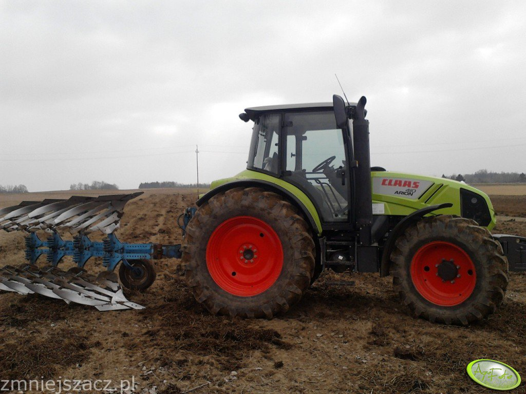 Claas Arion 410 + Lemken