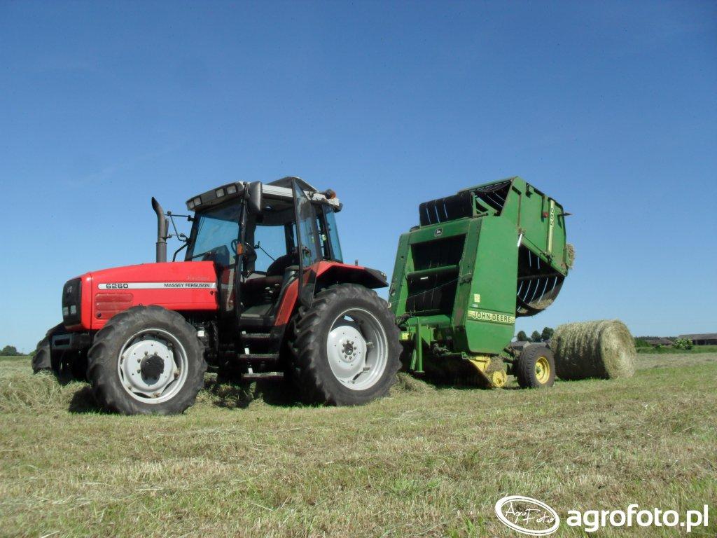 Massey Ferguson 6260 + John Deere 590