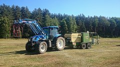 New Holland T6050 Plus + Krone Combi Pack